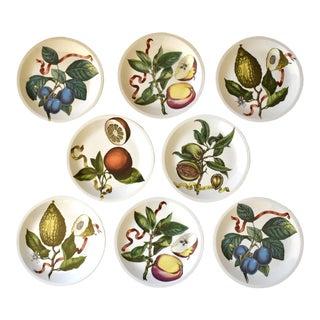 Vintage Villeroy & Boch Botanical Illustration Fruit Plates - Set of 8 For Sale