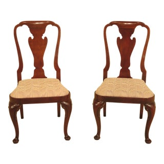 Baker Queen Anne Mahogany Side Chairs - A Pair