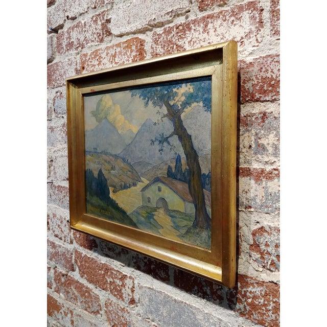 Canvas Valentin De Zubiaurre Jr -Spanish Basque Landscape -Oil Painting For Sale - Image 7 of 9