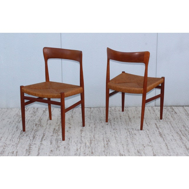 Brown 1950's Danish Teak Sculptural Dining Chairs - Set of 6 For Sale - Image 8 of 13