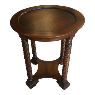 Traditional Bramble Company Turned-Leg Side Table For Sale