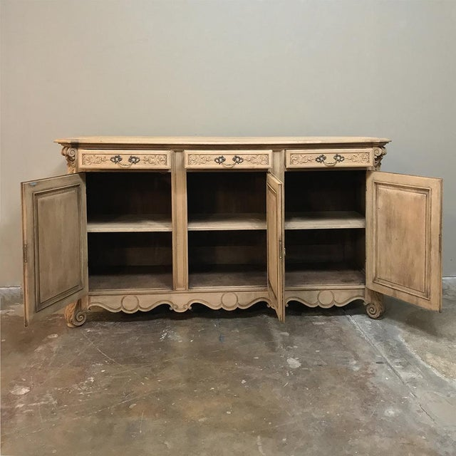 19th Century Country French Regence Stripped Oak Buffet For Sale In Dallas - Image 6 of 13