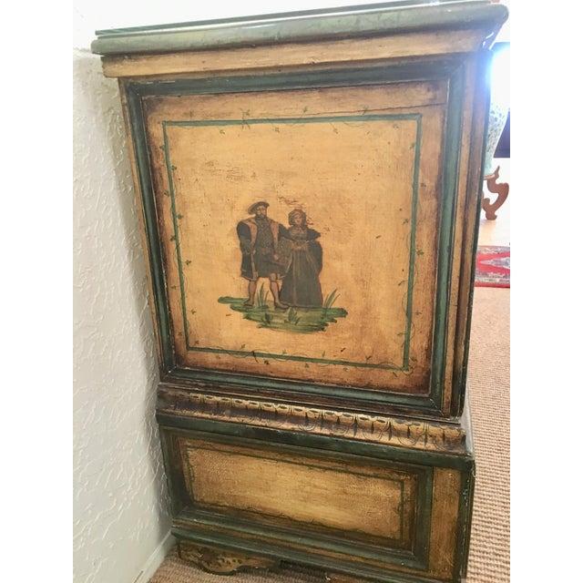 Italian 18th Century Italian Lacca Povera Estate Chest For Sale - Image 3 of 11