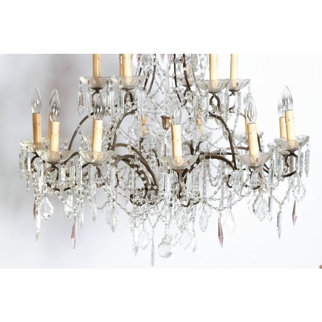 19th Century Italian 18-Light Crystal Chandelier For Sale In Dallas - Image 6 of 10