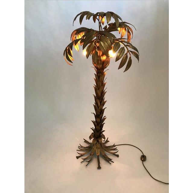 Hans Kögl Vintage Golden Palm Tree Floor Lamp by Hans Kögl, 1970s For Sale - Image 4 of 11