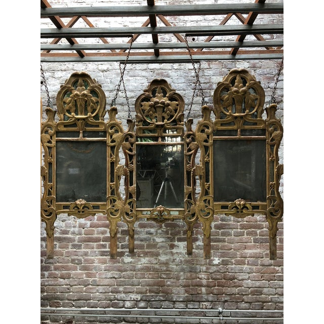 Mid 18th Century 18th Century Louis XV Carved Gilt Wood Mirrors, Exceptionnel Set of Three. For Sale - Image 5 of 13
