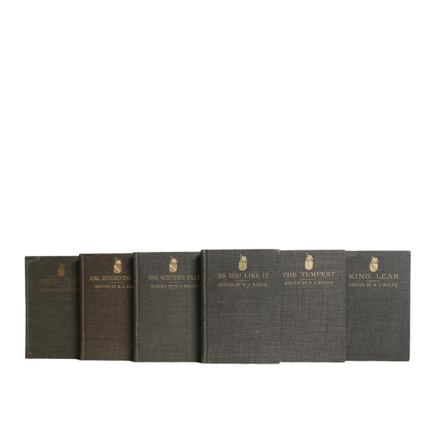 English Traditional Vintage Decorative Book Gift Set: Shakespeare in Charcoal For Sale - Image 3 of 5