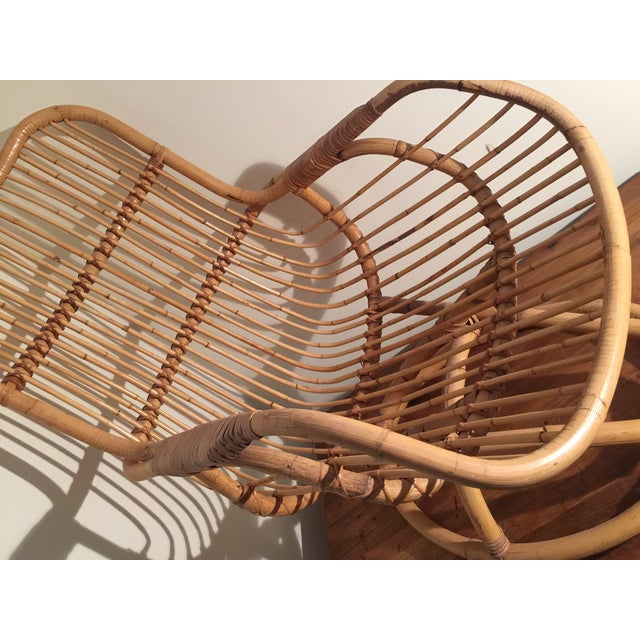 Mid-Century Rattan Chair - Image 11 of 11