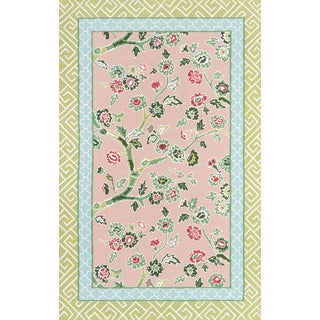 """Madcap Cottage Under a Loggia Blossom Dearie Multi Indoor/Outdoor Area Rug 3'9"""" X 5'9"""" For Sale"""