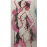 Image of Modern Female Nude Drawing by James Bone 1990s For Sale