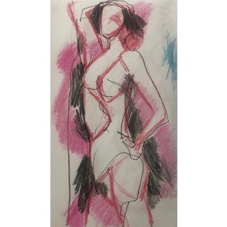 Modern Female Nude Drawing by James Bone 1990s For Sale