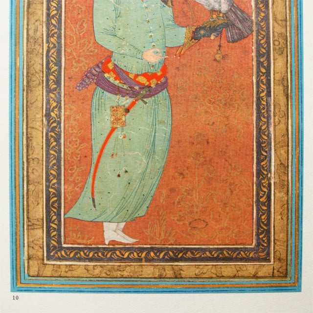 1940s Persian Original the Falconer Lithograph For Sale - Image 4 of 9
