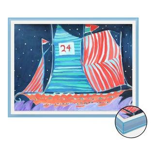 SB Wax Cay by Lulu DK in Light Blue Translucent Acrylic Shadowbox, Small Art Print For Sale