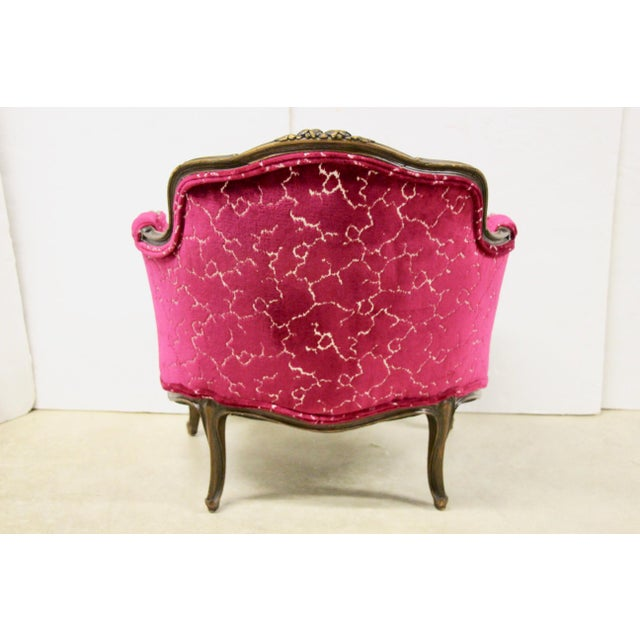 1940s Petite French Bergere Chair For Sale - Image 5 of 8