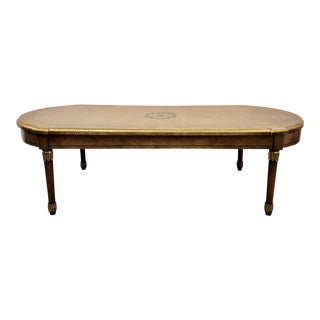 Hollywood Regency Convertible Coffee Table to Bench For Sale