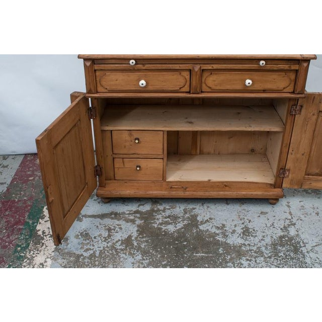 Brown Pine Glazed Buffet For Sale - Image 8 of 10