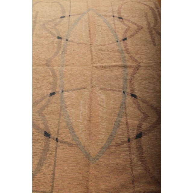 Hand-Knotted Contemporary Flat Weave Rug - 6′ × 8′5″ For Sale - Image 4 of 6