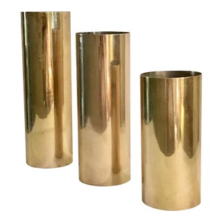 Three Vintage Brass Vases