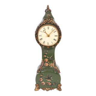 Miniature Hand-Painted Dutch Clock For Sale