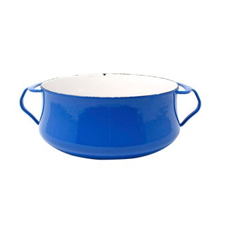 Vintage Royal Blue Dansk Kobenstyle 3 Quart Enamelware Pot by Jens Quistgaard For Sale
