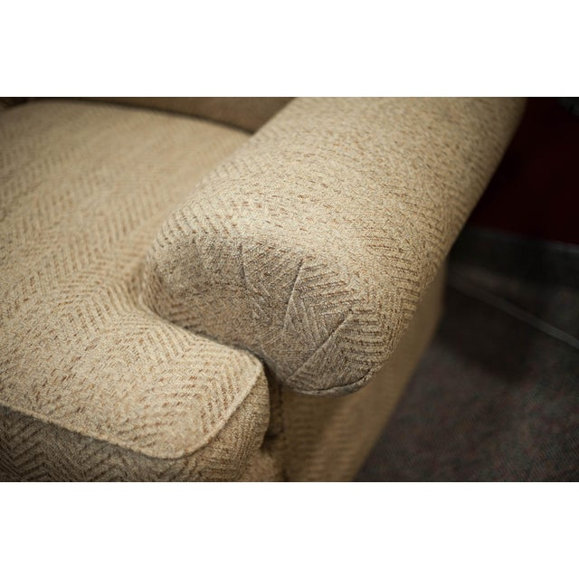 Hickory White Speckled Tan Love Seat - Image 6 of 10
