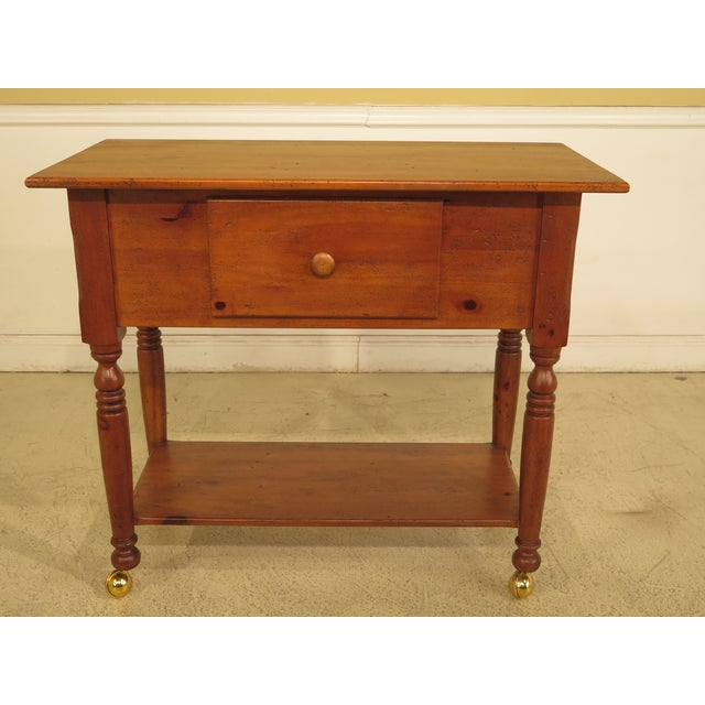 Habersham Plantation Country Distressed Cart Table For Sale - Image 13 of 13