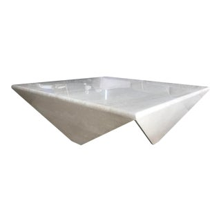 Italian Travertine Coffee Table For Sale