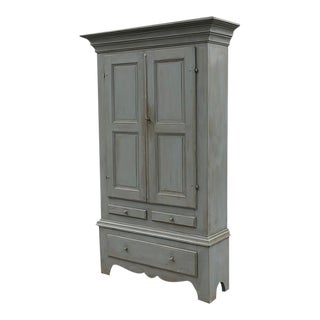 Large Painted Cupboard For Sale