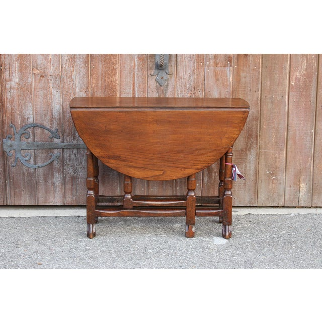 Early 19th Century 19th C. English Gateleg Console For Sale - Image 5 of 11