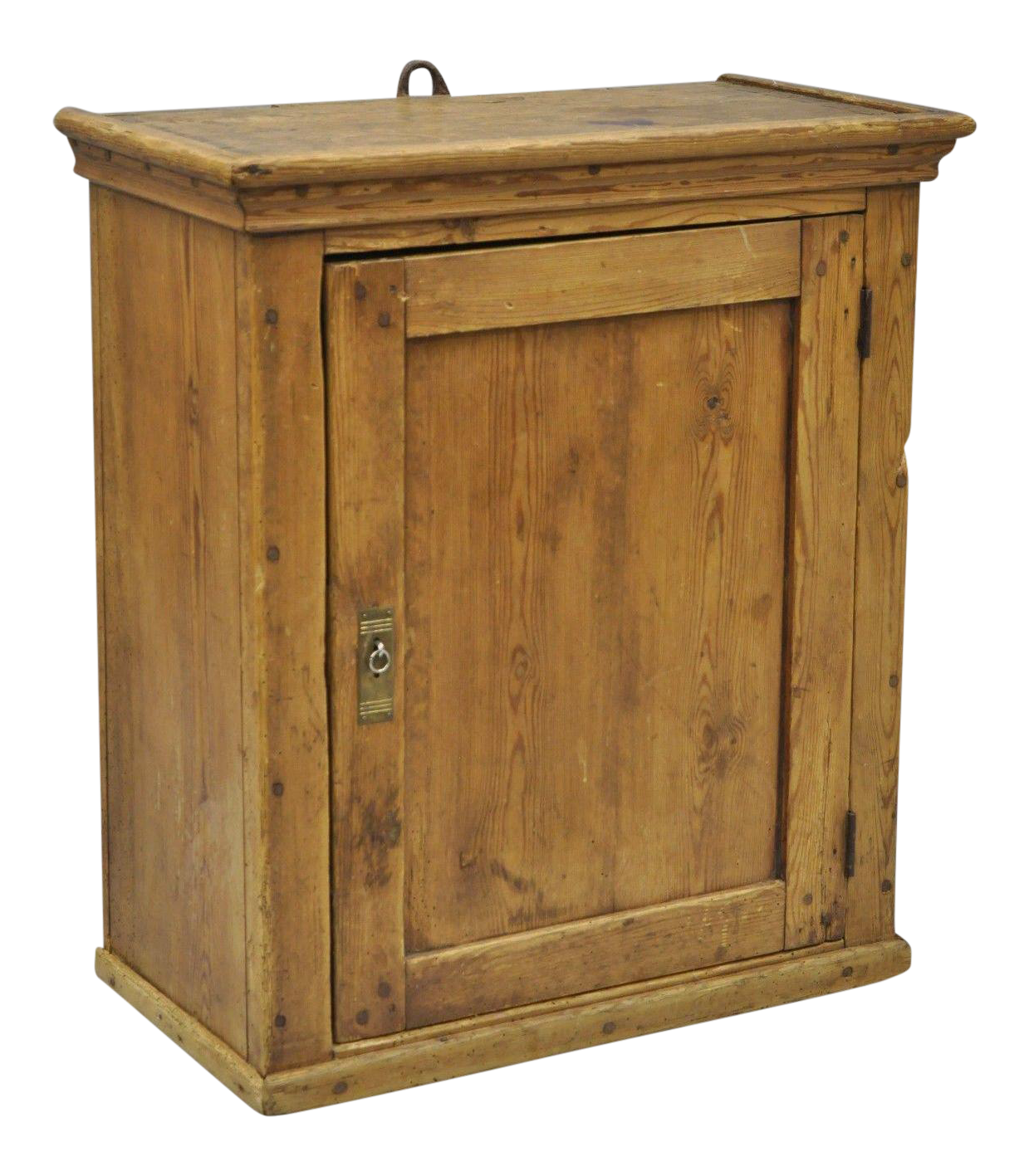 Superbe Antique Primitive Rustic Pine Wood Wall Hanging Cupboard Pantry Hutch |  Chairish