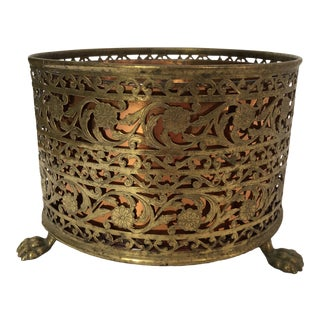 Hollywood Regency Copper and Brass Pot For Sale
