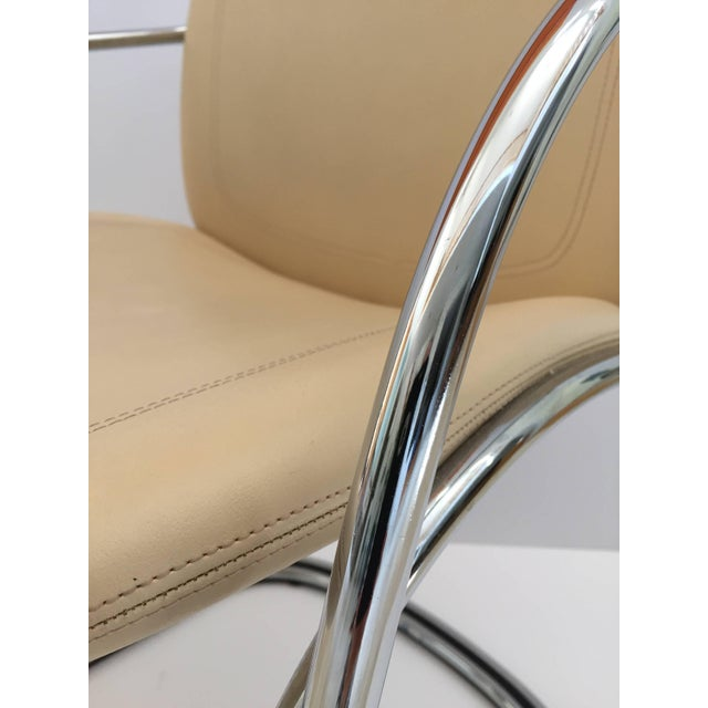 Modern 1970s Vintage Gastone Rinaldi for Rima Italian Chrome and Leather Chairs- Set of 4 For Sale - Image 3 of 11