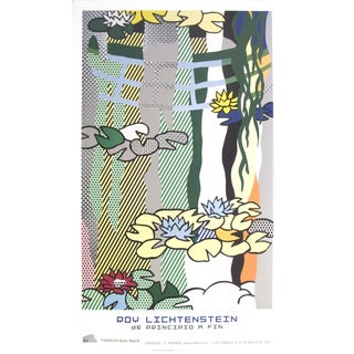 Water Lilies With Japanese Bridge Roy Lichtenstein Poster For Sale