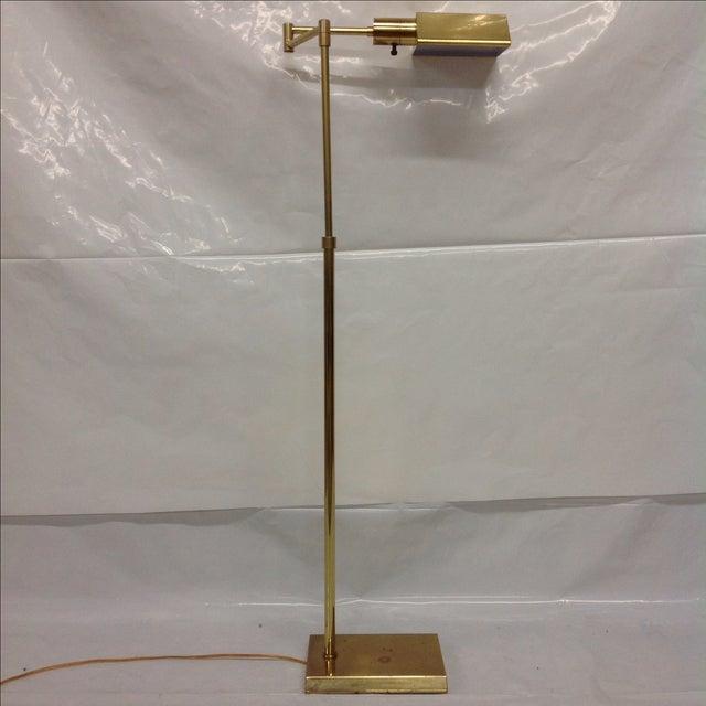 Walter Van Nessen Brass Swing Arm Floor Lamp - Image 5 of 5