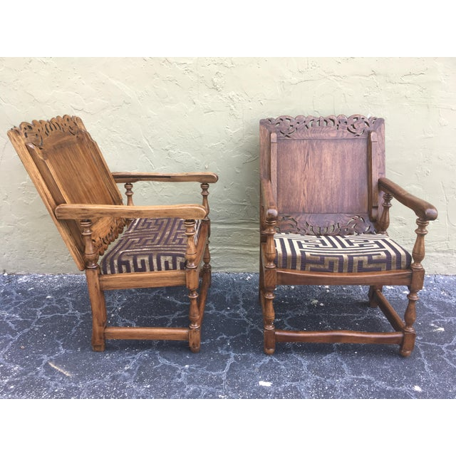 Late 19th Century 19th Century Convertible Pair of Monk's Chair or End Table,Foldable Armchair For Sale - Image 5 of 11