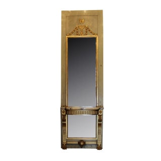 French Pier Mirror With Console