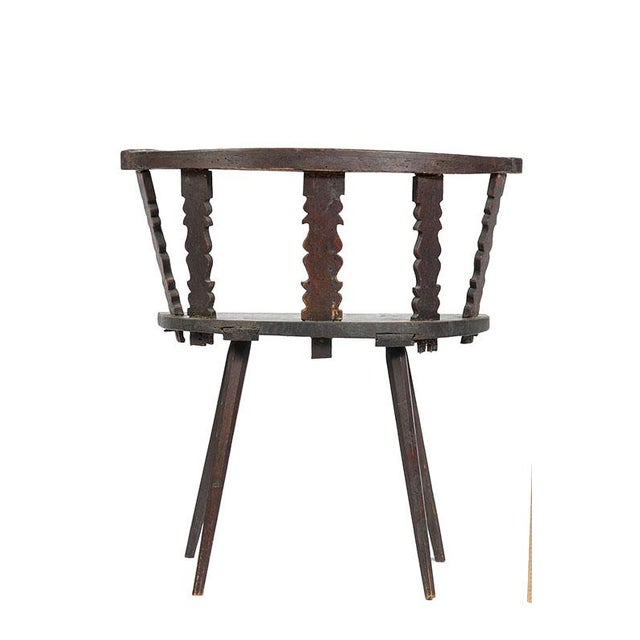 Cottage Late 19th. C English Carved Tiger Oak Corner or Side Chair For Sale - Image 3 of 5