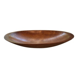 Large 20th Century Americana Wooden Hand Carved Dough Bowl