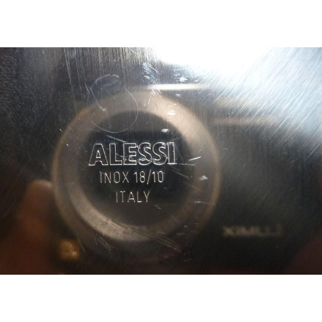 Metal Alessi Stainless Steel Fruit Bowl For Sale - Image 7 of 7