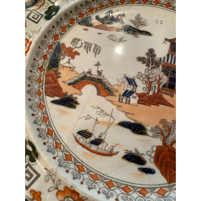 19th Century Antique Mason's Ironstone Chinoiserie Luncheon or Dinner Plates — Set of 6 For Sale - Image 5 of 11