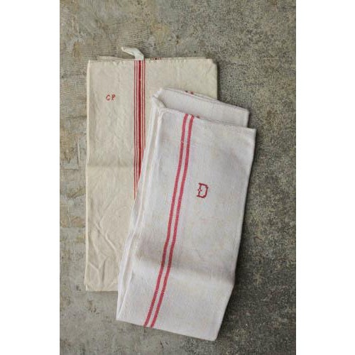 Vintage French Linen Hand Towels - Pair - Image 2 of 5