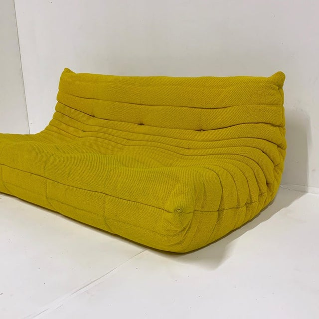 Contemporary Michel Ducaroy for Ligne Roset Rare Yellow Toga Sofa / Large Settee 2 Available For Sale - Image 3 of 12