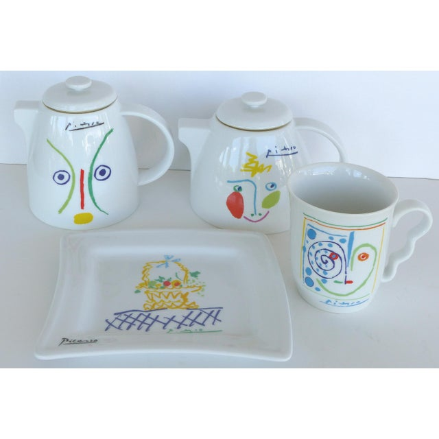 Italian Picasso Tea & Coffee Lunch Set For Sale - Image 10 of 10