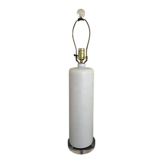 Mid-Century Cylinder Table Lamp For Sale