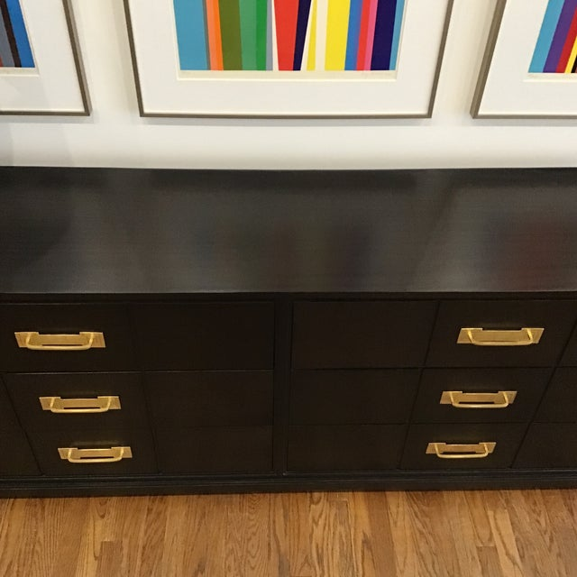 1950's Mid Century Tommi Parzinger for Charak Ebonized Chest of Drawers For Sale - Image 9 of 13