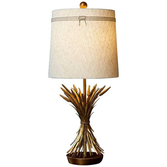 Superior sheaf of wheat gilt metal table lamp by marbro lamp 1 decaso impressive sheaf of wheat gilt metal table lamp by marbro the lamp has a brushed aloadofball Gallery