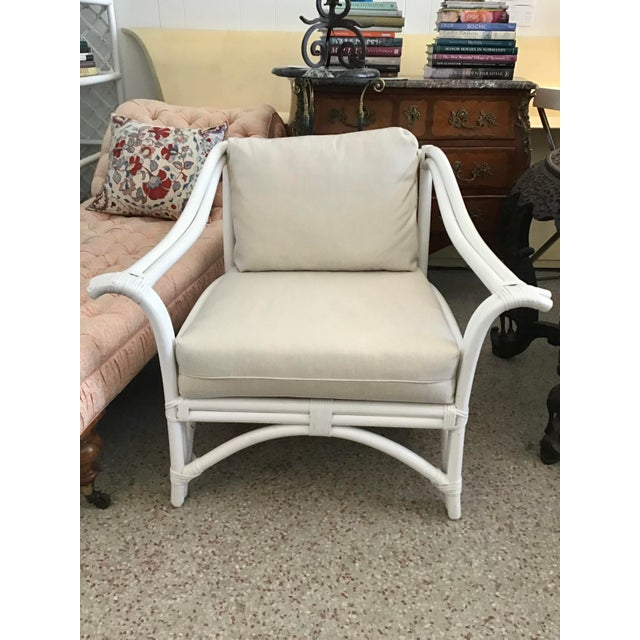 White 1960s Vintage Ficks Reed Club Chair For Sale - Image 8 of 8