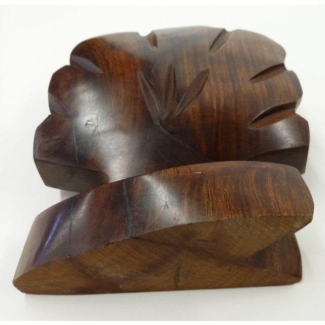 Heavy Ironwood Napkin or Letter Holder For Sale In Boston - Image 6 of 10