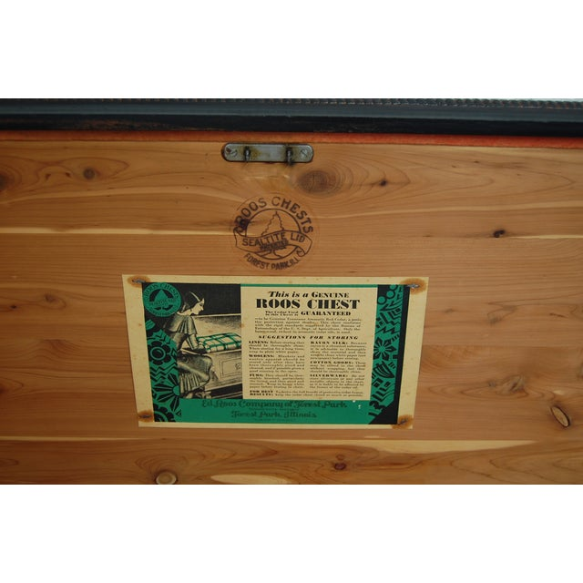 Antique 1920's Black Cedar Chest by Roos - Image 7 of 9