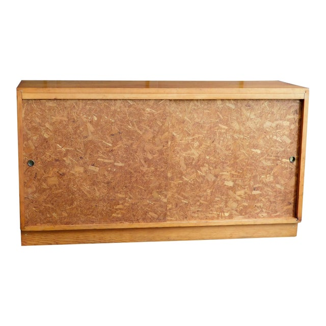 Mid Century Wooden Cabinet For Sale